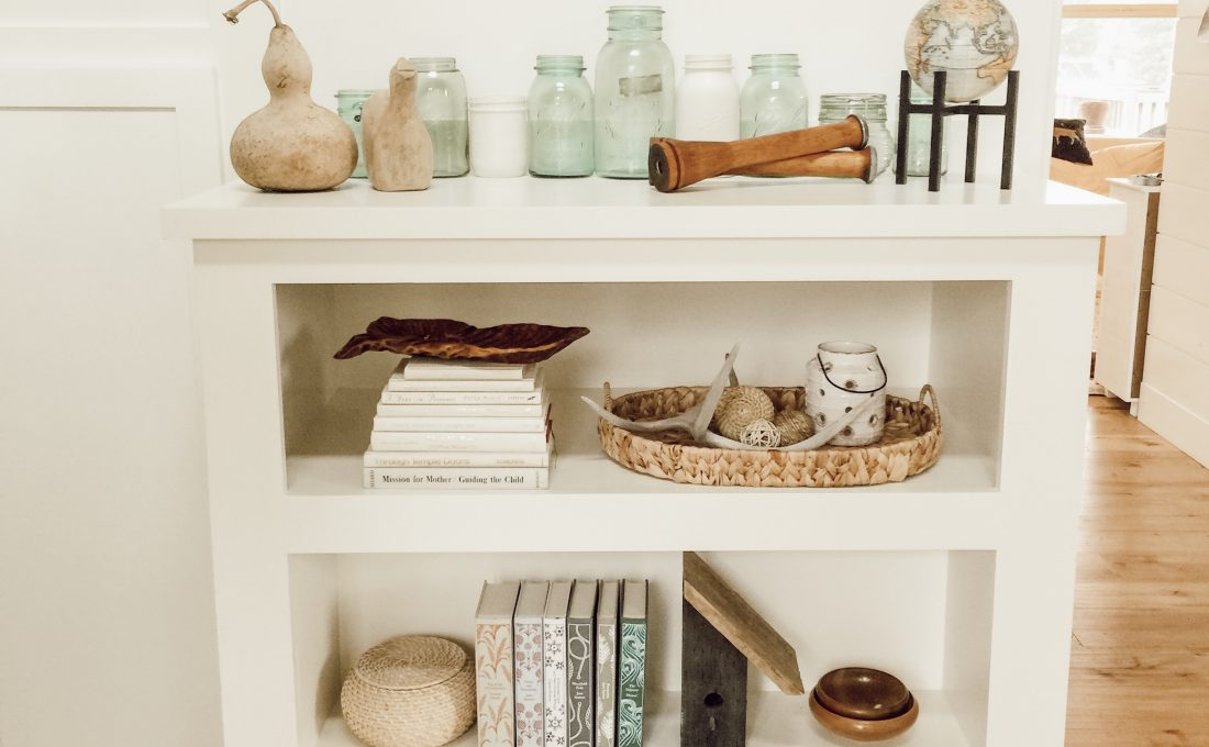 Thrifted Styled Shelves