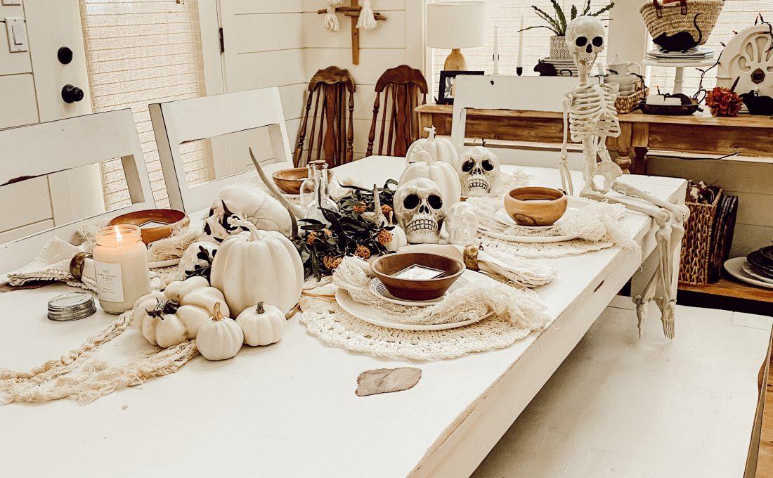 Halloween Neutral Tablescape